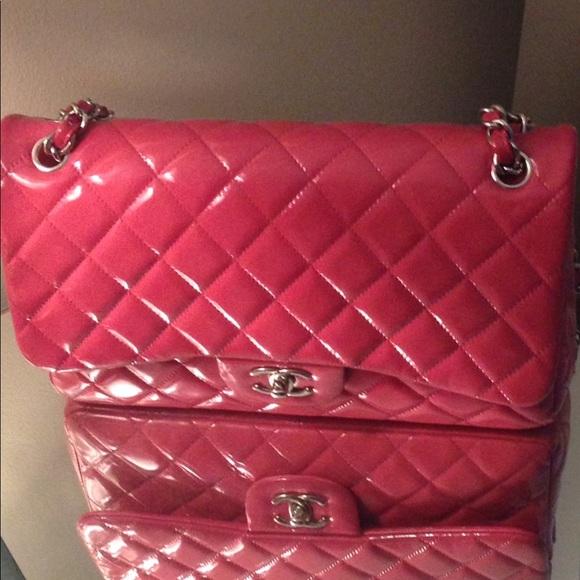 d9cd14e80a2d CHANEL Bags | Fuchsia Jumbo Patent Leather 4000 | Poshmark